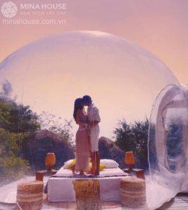 Xuất hiện nhà bong bóng khu dã ngoại Trung Lương