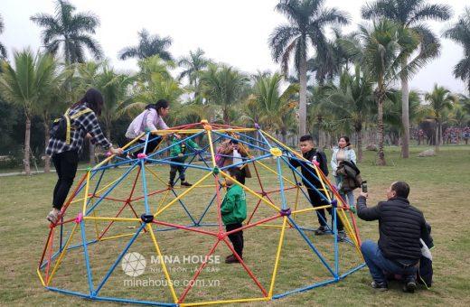 Thi công lắp ráp nhà lắp ghép cho trẻ em chơi