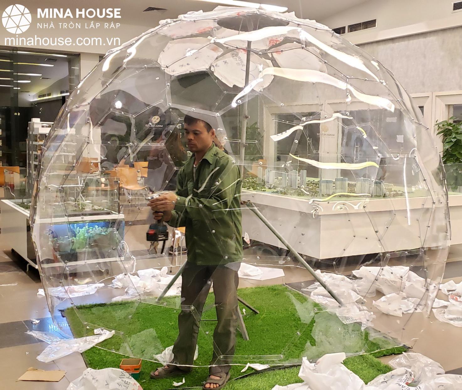 Lắp ráp nhà bong bóng cho Ecopark Hà Nội